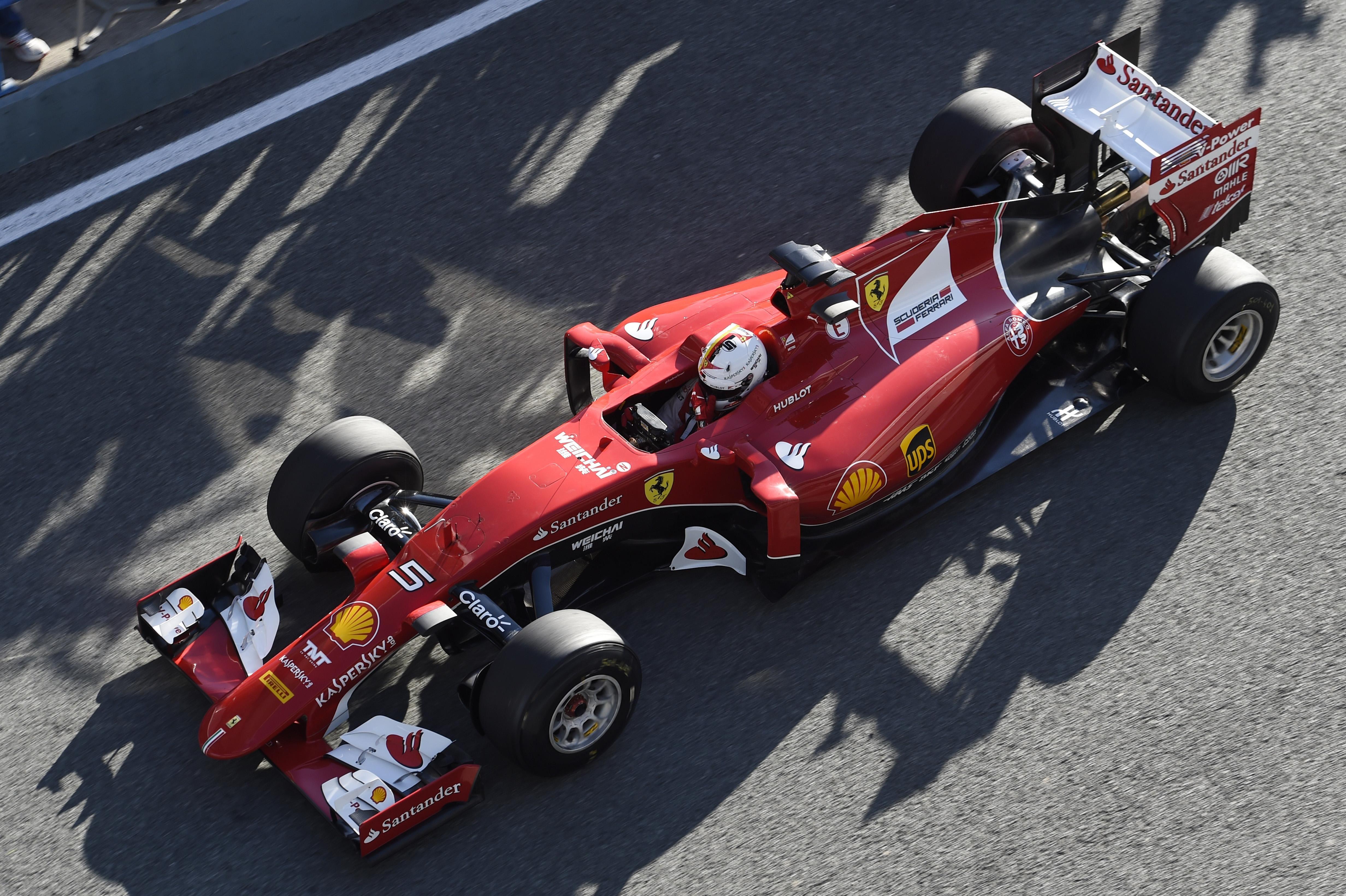 Sebastian Vettel, SF15T Jerez 2015 New ferrari, Jerez