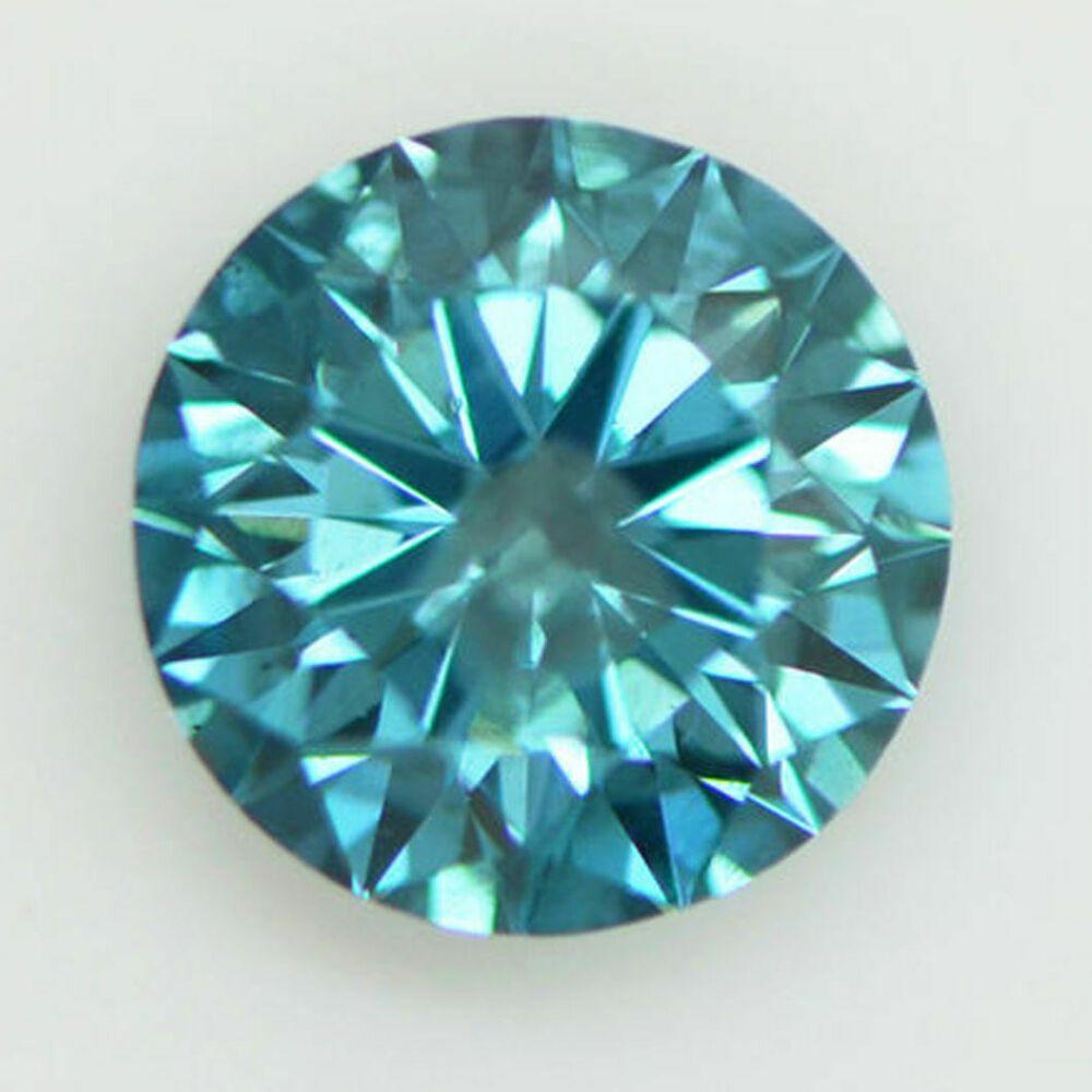 Loose Round Shape Diamond Real 1 24 Carat Fancy Blue Color I1 Certified Enhanced Smartdiamondsource In 2020 Blue Color Blue Diamond Fancy