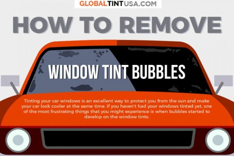 How To Get Rid Of Bubbles In Tinted Windows