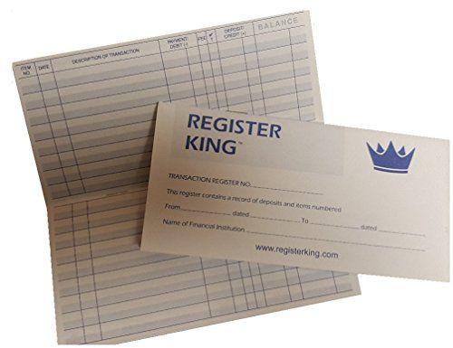 Checkbook Registers  Calendars By Register King