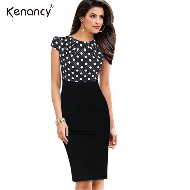 01d4c347150 Kenancy 2XL Plaid Green Polka Dot Flower Print Cap Sleeve Patchwork Dress  Women