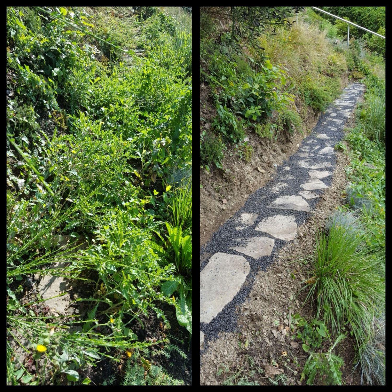 Trittsteine Garten neue wege neue ziele wege garten gärtner rösrath unkraut