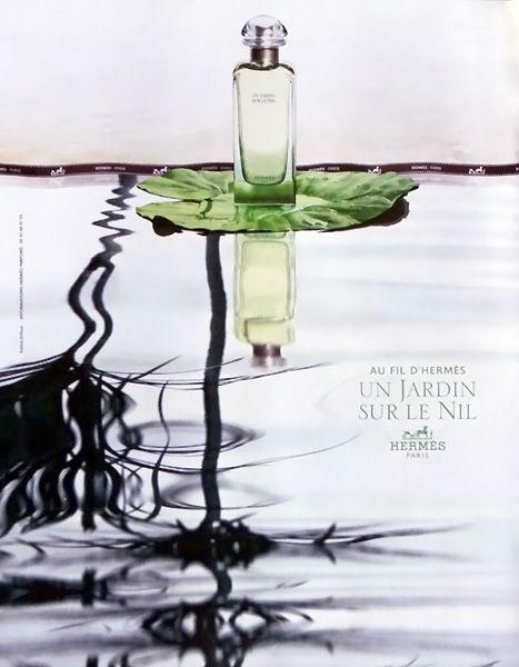 Publicit du parfum un jardin sur le nil de hermes for Boutique dans un jardin en ligne