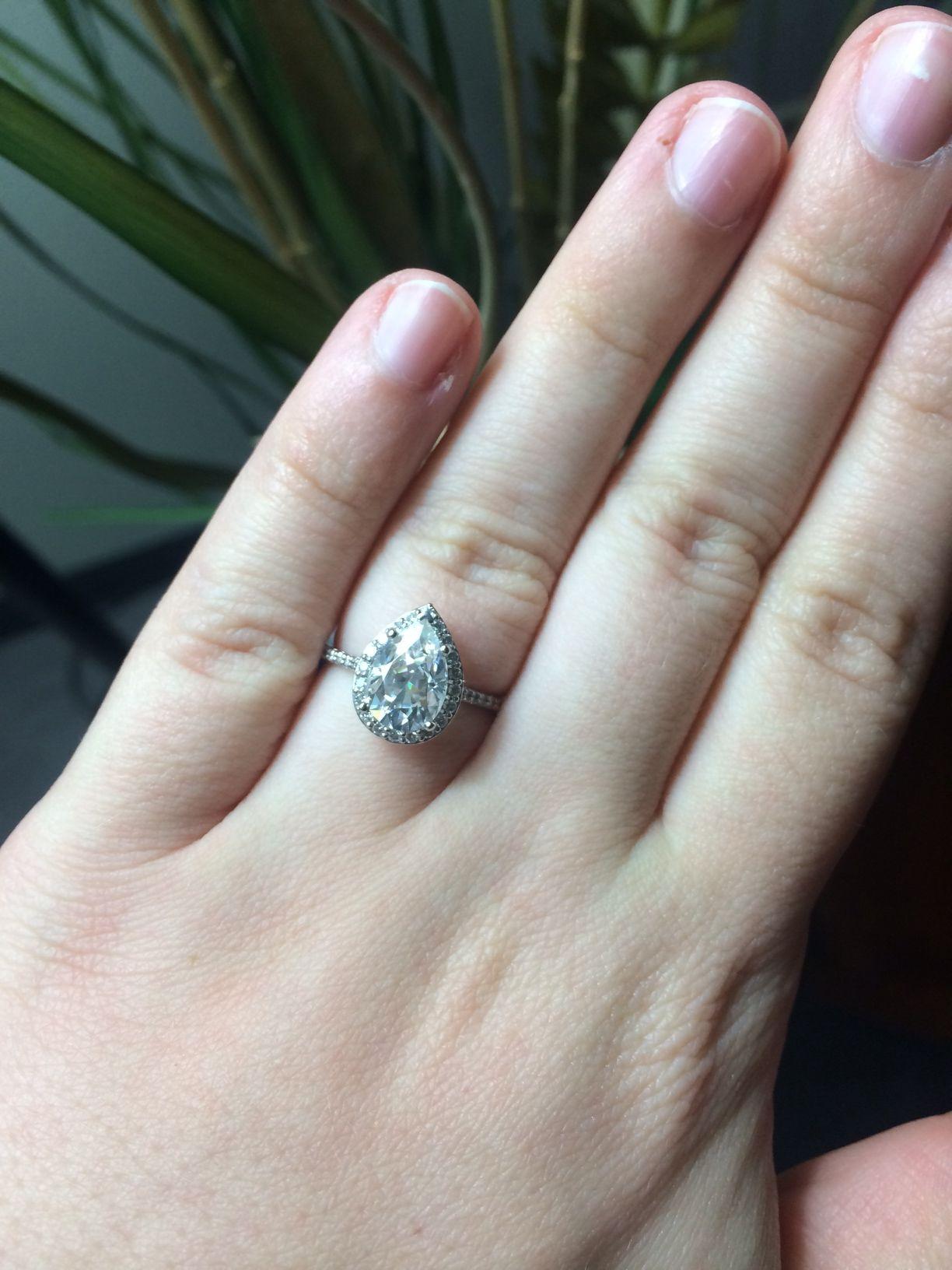 Pear engagement rings weddingbee page dream wedding