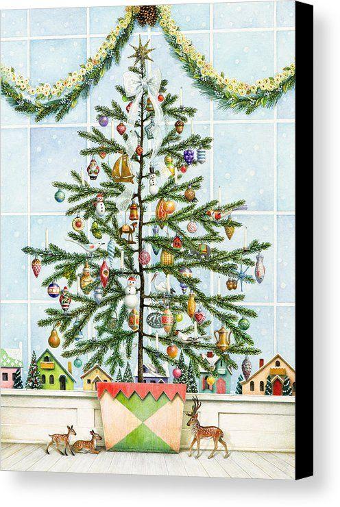 Little Christmas Tree Canvas Print Canvas Art By Lynn Bywaters In 2020 Christmas Tree Art Christmas Tree Painting Christmas Tree Canvas
