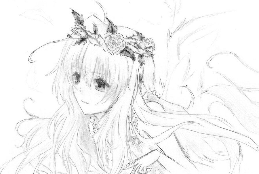 Pin By Rose On Anime Angel Drawing Sketches Drawings