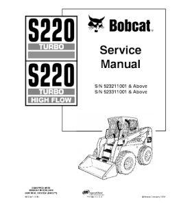 Best download bobcat s220 skid steer loader service repair