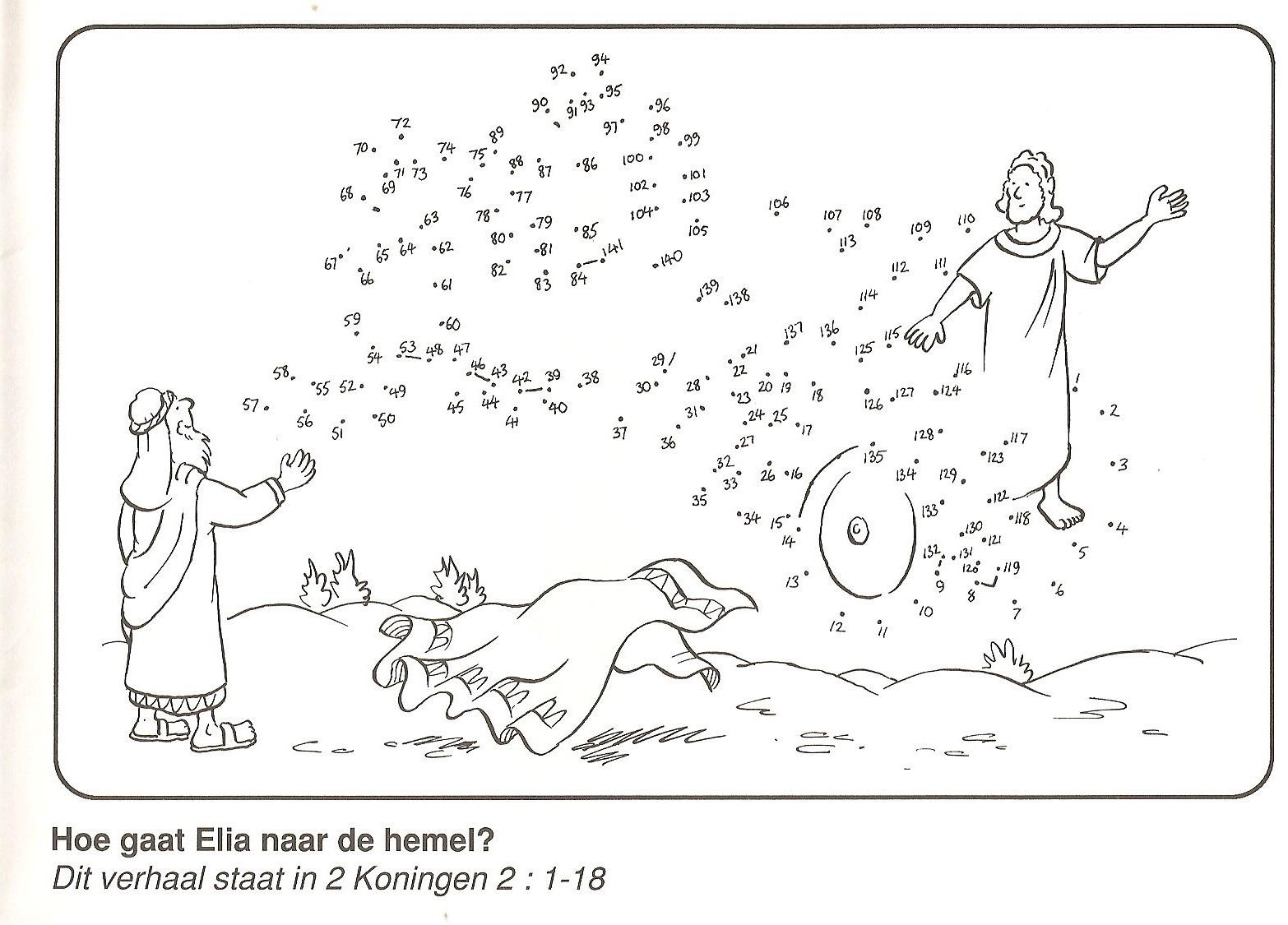 Elijah Taken In Cariot Of Fire Dot To Dot
