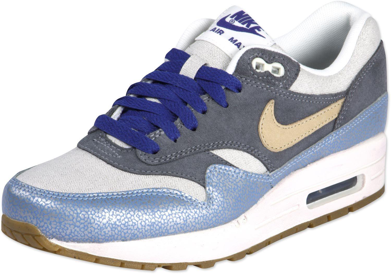 Nike Air Max 1 Premium W schoenen zilver blauw grijs (met