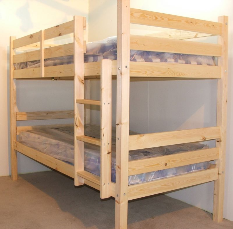 Plato 2ft 6 Small Single Heavy Duty Solid Pine Bunk Bed Kids Room