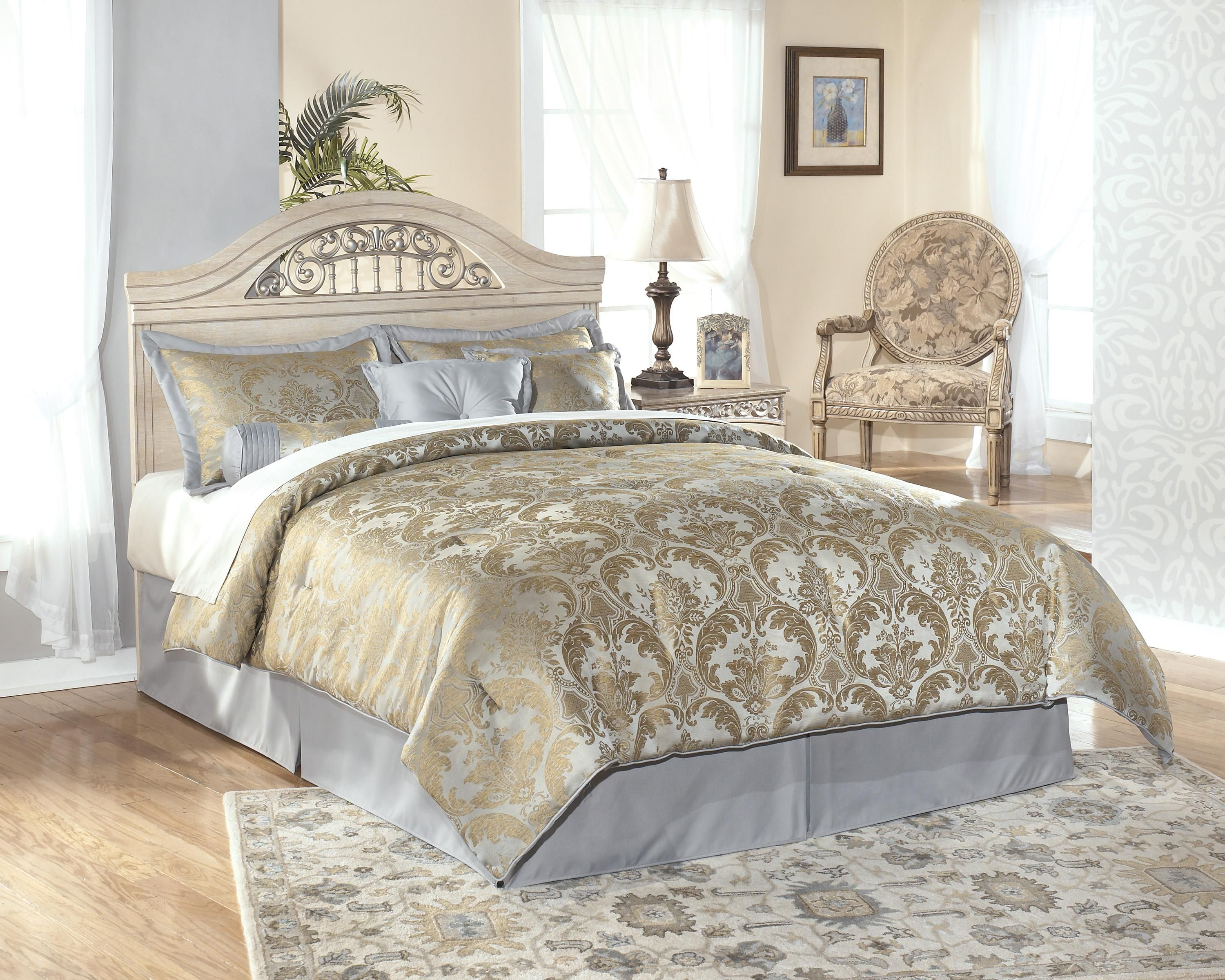 Catalina B196 Full Queen Panel Headboard by Signature Design by Ashley  Furniture for  149Catalina Full Queen Size Headboard with Ornate Metal Insert by  . Ornate Bedroom Furniture. Home Design Ideas