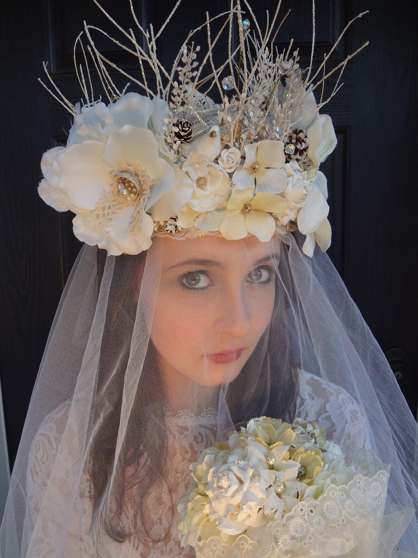 Winter Fantasy Bridal Fairy Crown / Solstice by