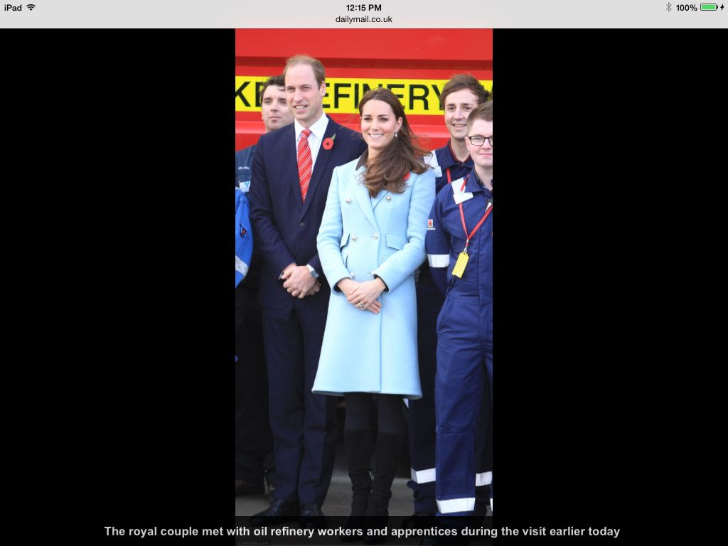 Duchess Catherine and Prince William 11/8/14