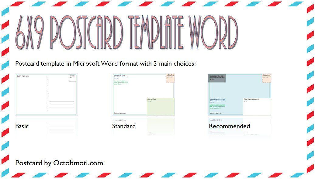 6 X 9 Postcard Template 6x9 Postcard Template Word Free Back Standard Usps Postcard Template Template Word Greeting Card Design Templates