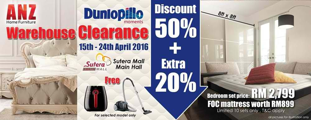 15 24 Apr 2016 Anz Home Furniture Dunlopillo Warehouse Clearance Sale Everydayonsales Com Home Furniture Furniture Clearance Sale