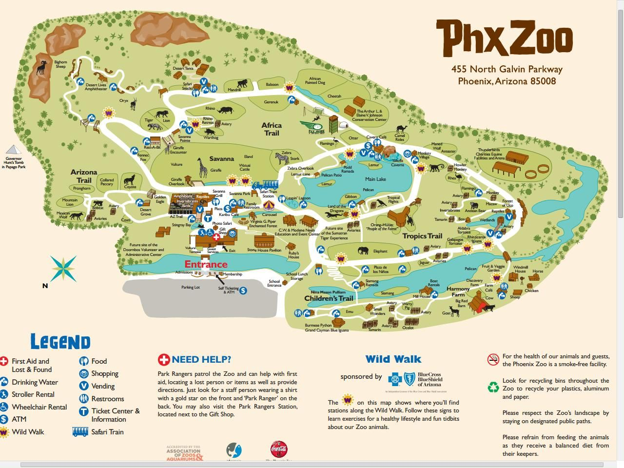 Phoenix Zoo Map Phoenix Zoo Map | Animal exhibit's,Museums and Theme parks | Zoo