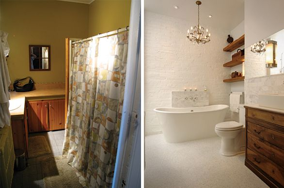 before and after wow renovation by graphic designer and rh pinterest com Bathroom Vanities Flooring Remodeling Before and After