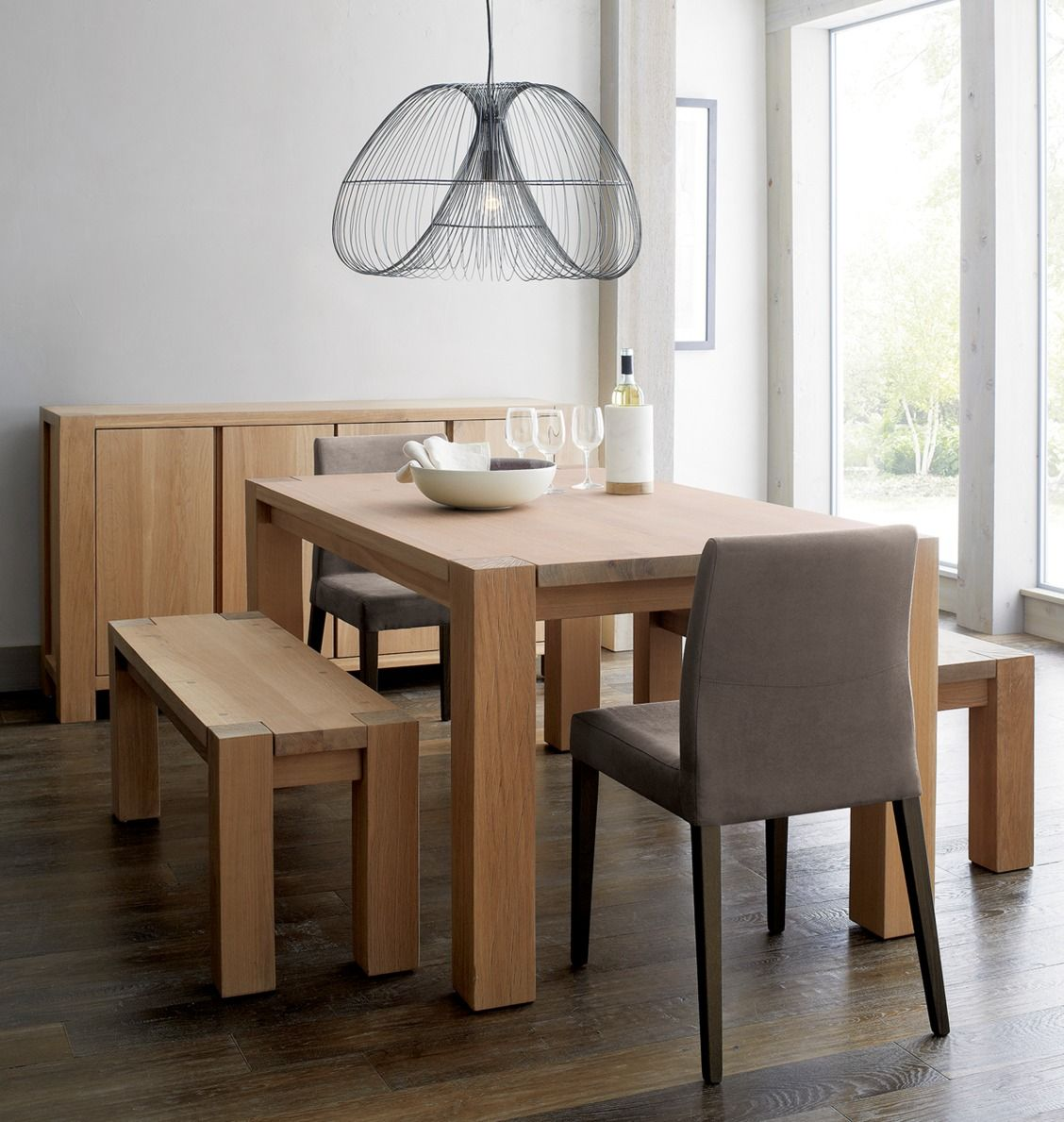 Our Bold Rustic Big Sur 65 Dining Table Is All About The Sheer