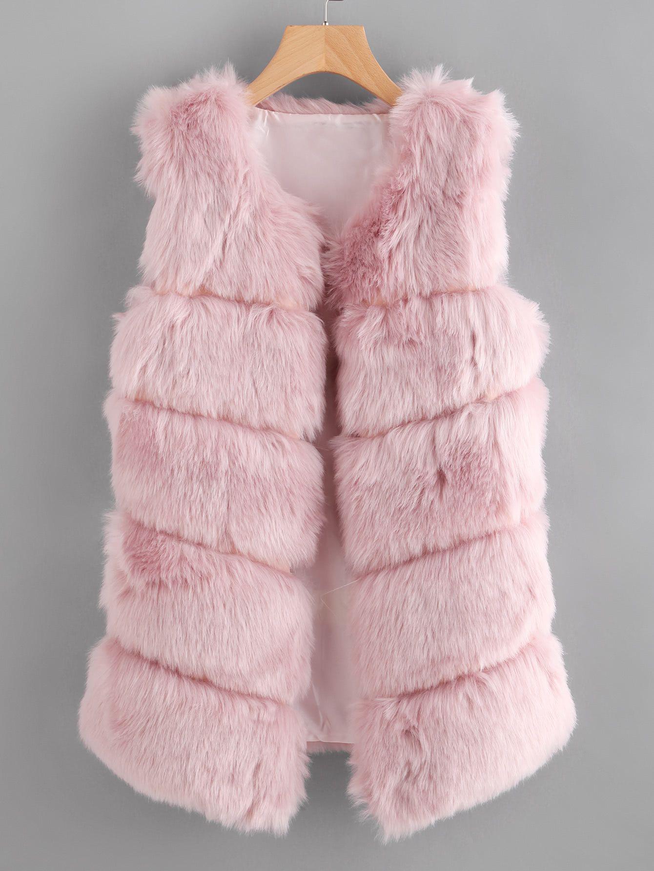 Shop Faux Fur Vest online. SheIn offers Faux Fur Vest & more to fit your fashion...