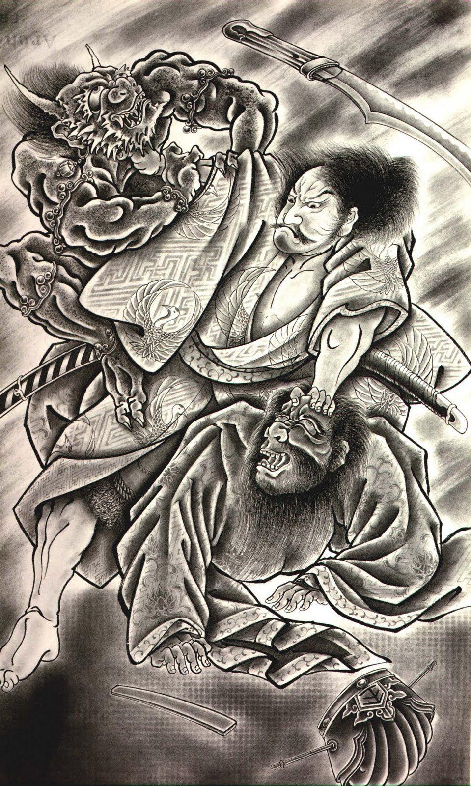 Tattoos Design |Demon Japanese Traditional Designs