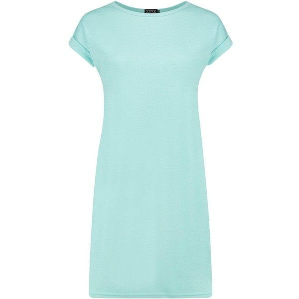 Boohoo Esme Loopback T-Shirt Dress | Boohoo (28 BRL) ❤ liked on Polyvore featuring dresses, blue bodycon dress, bodycon mini dress, t shirt dress, bodycon midi dress and blue party dress