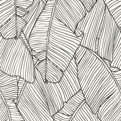 """Bungalow Rose Leaf Outline Abstract 33' x 20.8"""" Wallpaper"""