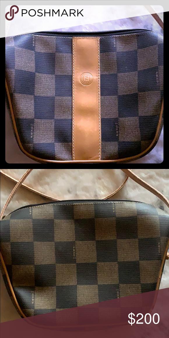 6ed4d69bf9624 Fendi Vintage Roma Checkered print crossbody bag Fendi Bags ...