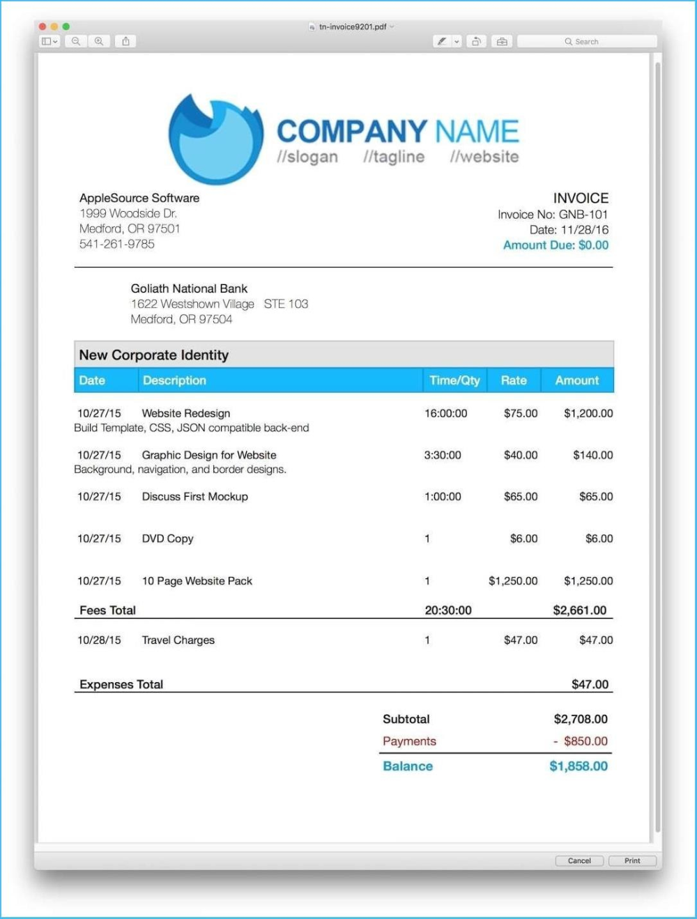 Pages Invoice Template In Invoice Template For Pages 10 Professional Templates Ideas 10 Professional Tem Invoice Template Invoice Template Word Templates
