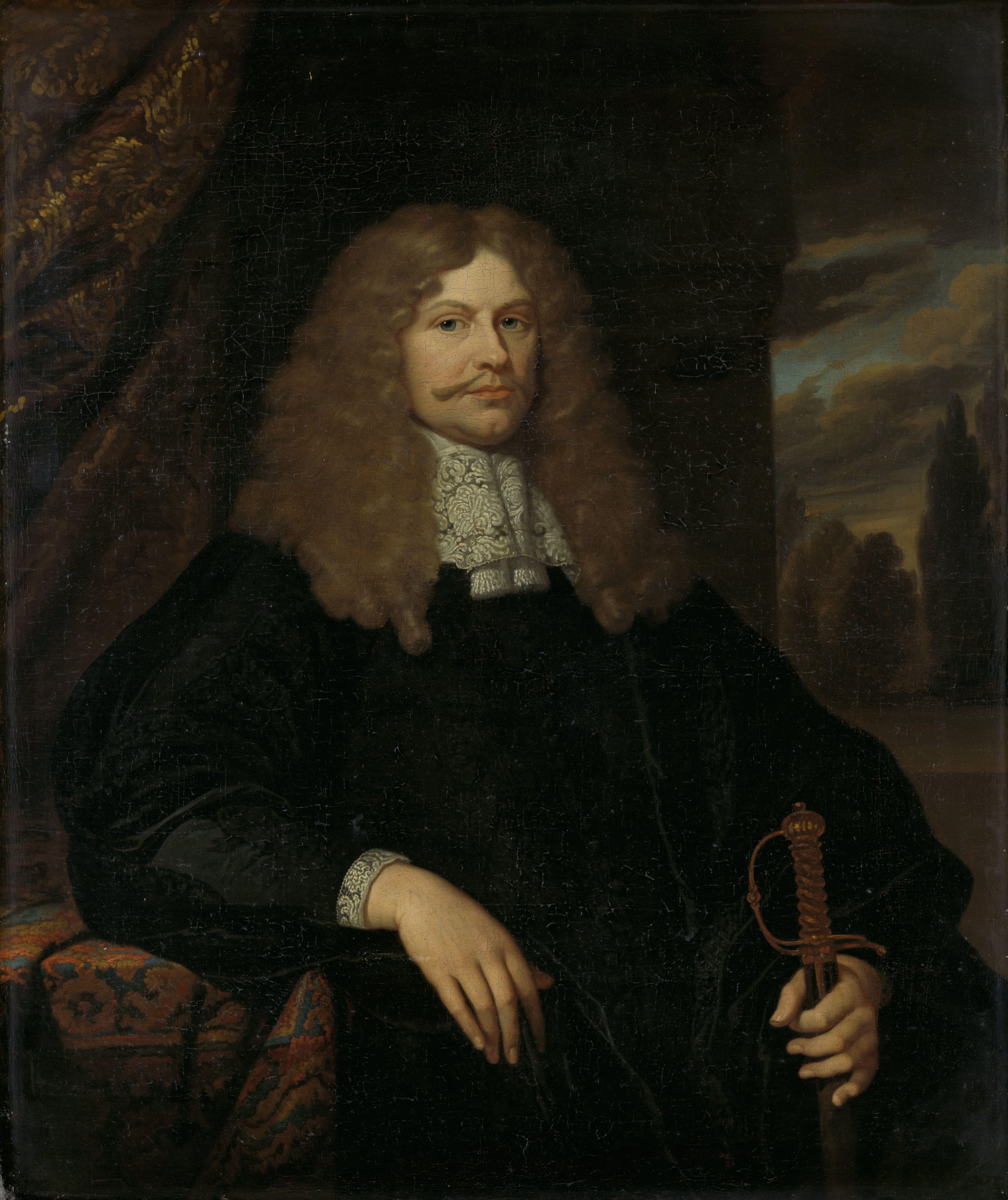 Caspar Netscher - Cornelis Backer (1633-81). Raad, schepen en kolonel der burgerij te Amsterdam