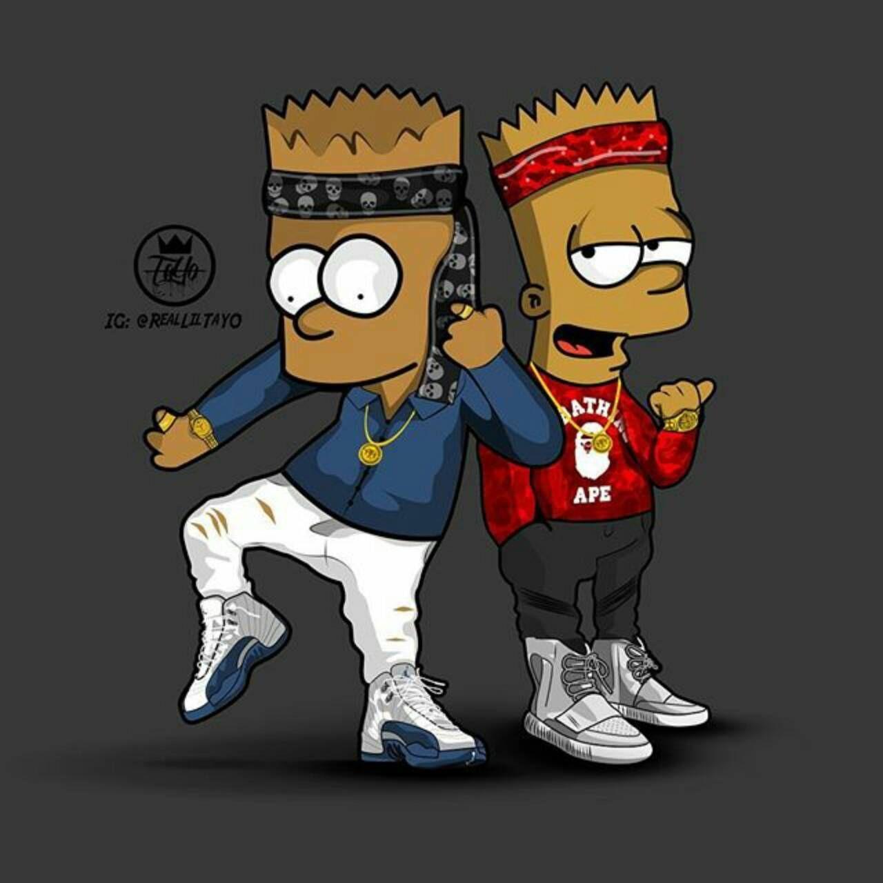 Glo Gang Iphone Wallpaper Bart Simpson Sss Pinterest Wallpaper Bart Simpson