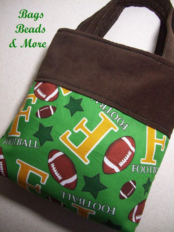 03ee0400a4 Boys Football Tote Bag Toy Bag for Toddlers by BagsBeadsandMore