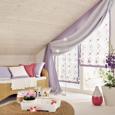 16 praktische Wohnideen für Ihre Dachschräge - dachschrge vorhang