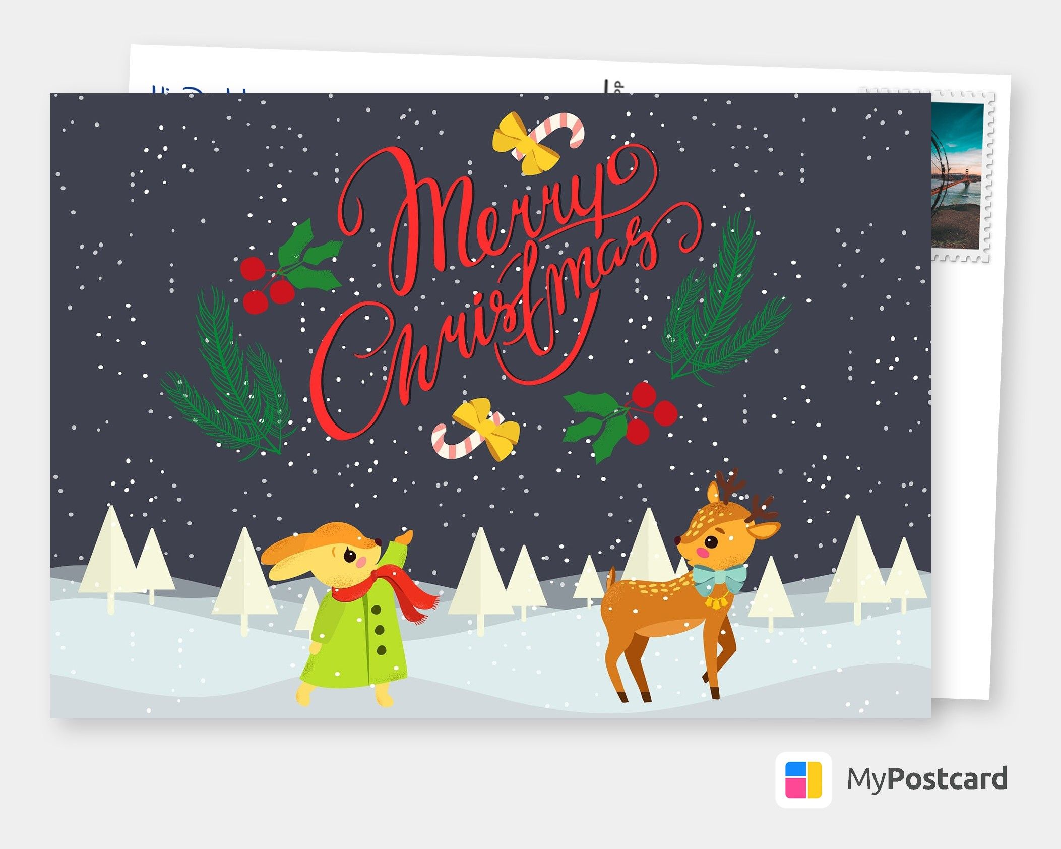 Merry Christmas Greetings / Merry Christmas Postcard / Merry Christmas Card Ideas / Merry Christmas