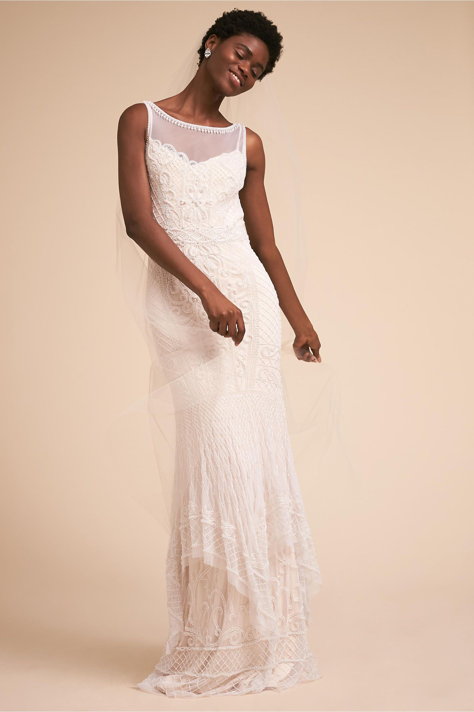 Theia wedding dresses  BHLDNus Theia Bridal Abby Gown in Ivory  Products  Pinterest