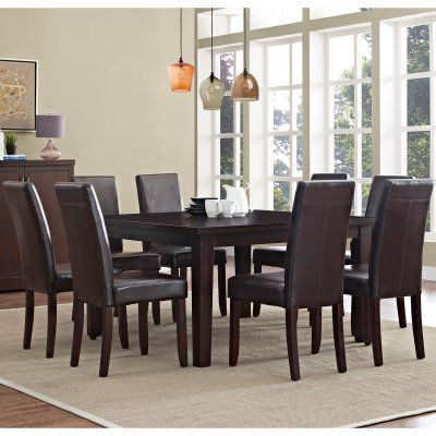 Astonishing Simpli Home Acadian 9 Piece Dining Set Axcds9 Aca Cr In Squirreltailoven Fun Painted Chair Ideas Images Squirreltailovenorg