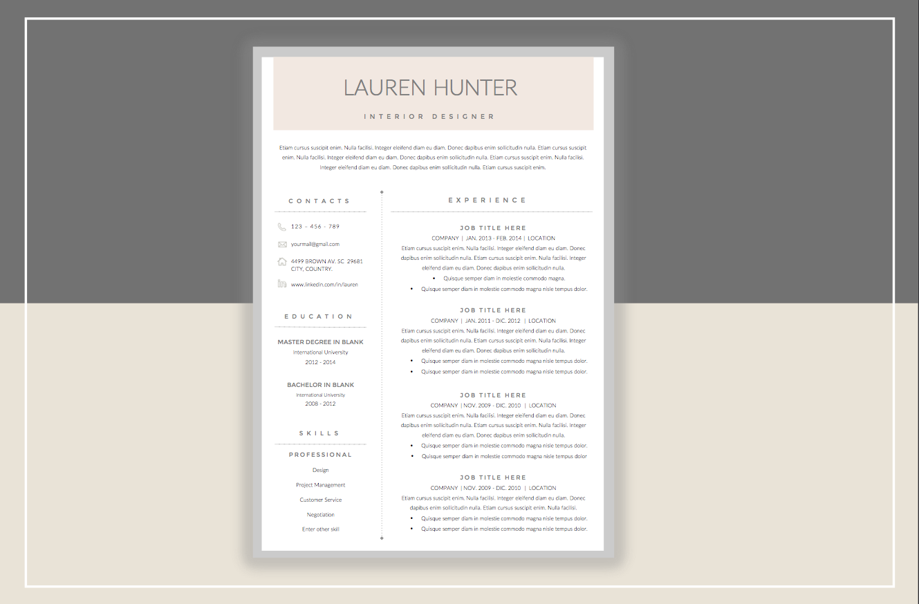 Resume Template u0026 Cover Letter by ResumeStudio