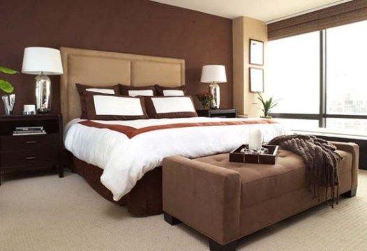 Camera da letto con pareti marrone e beige armadio bedroom home decor e bedroom colors - Camera da letto beige ...