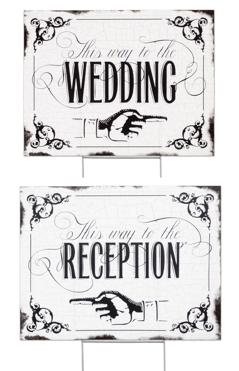 Gem\'s Wedding Supplies - This Way to the Wedding or Reception ...