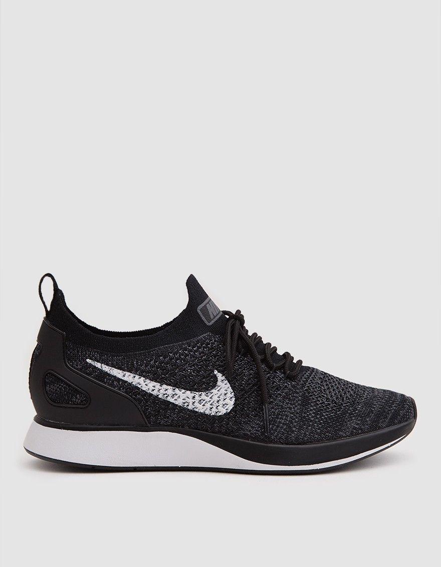Nike Women S Air Zoom Mariah Flyknit Racer In Black Black Nike Shoes Women Nike Shoes Women Black Nike Shoes