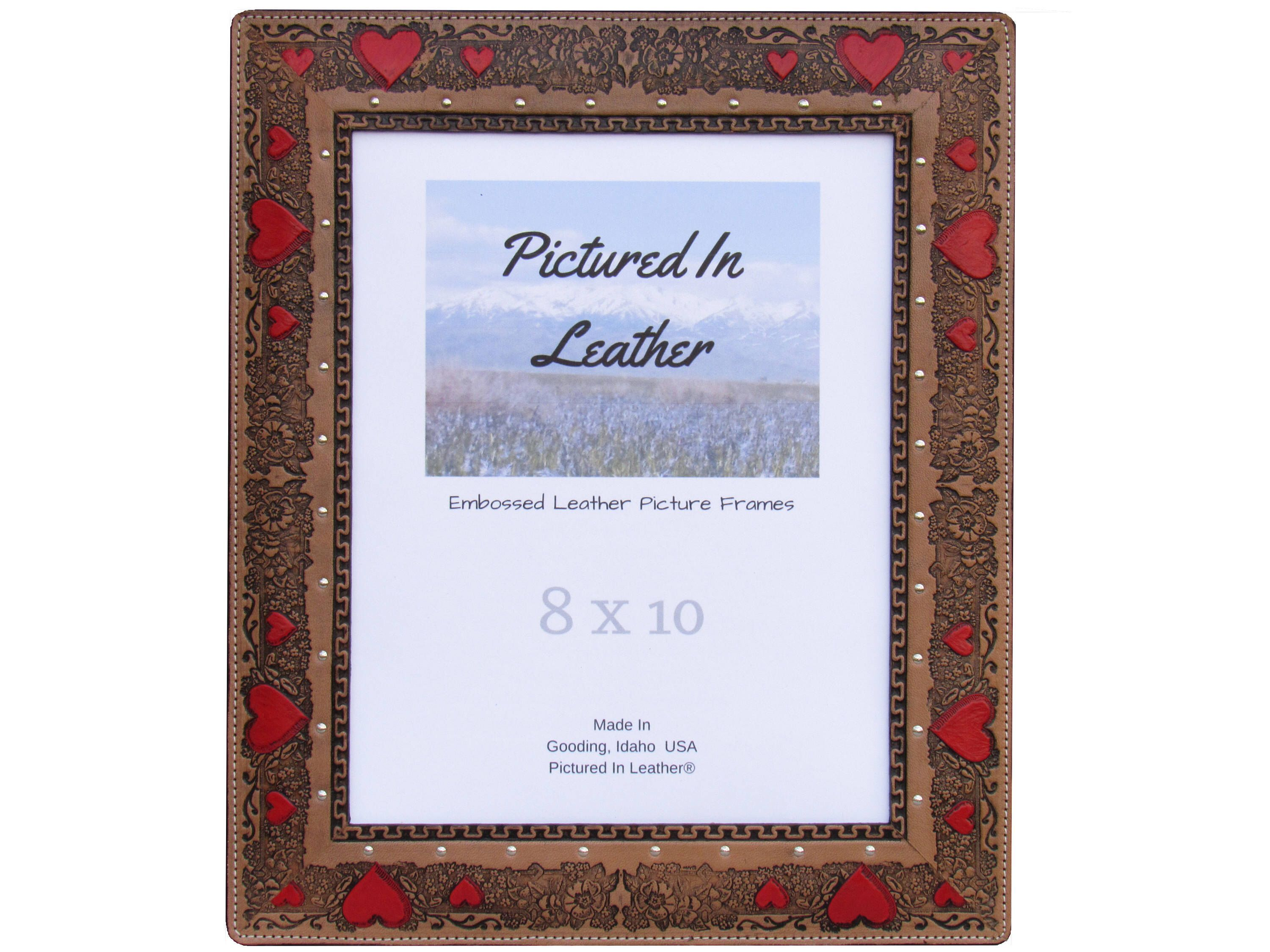 Valentines Day gift for wife, 8x10 leather picture frame, wedding ...