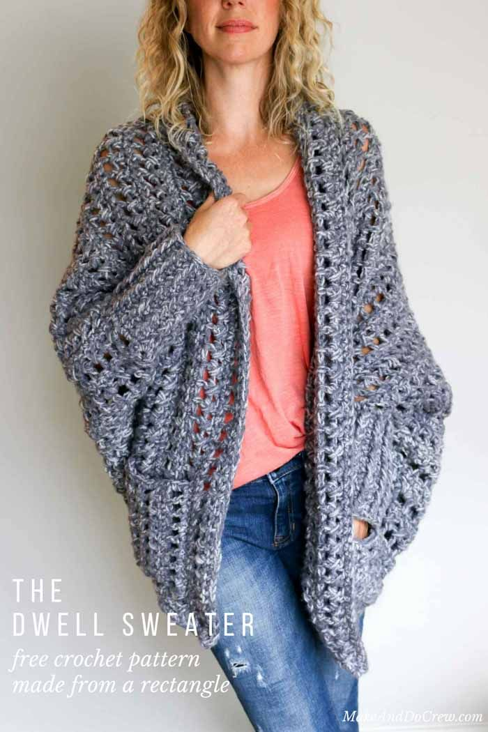 26d40f082e369a ... this flattering chunky crochet sweater comes together easily with zero  shaping