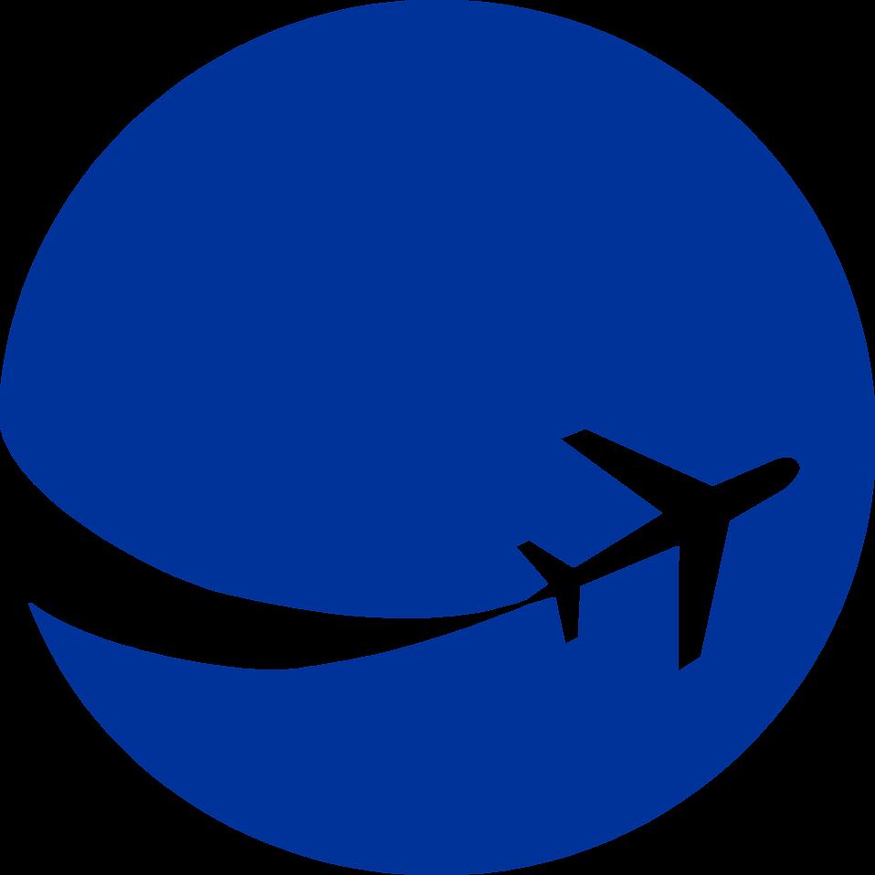 Aeroplane Logo Blue