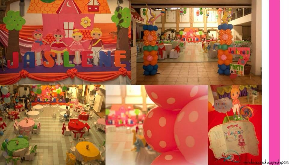 Lalaloopsy Stage Design Tables and Balloons
