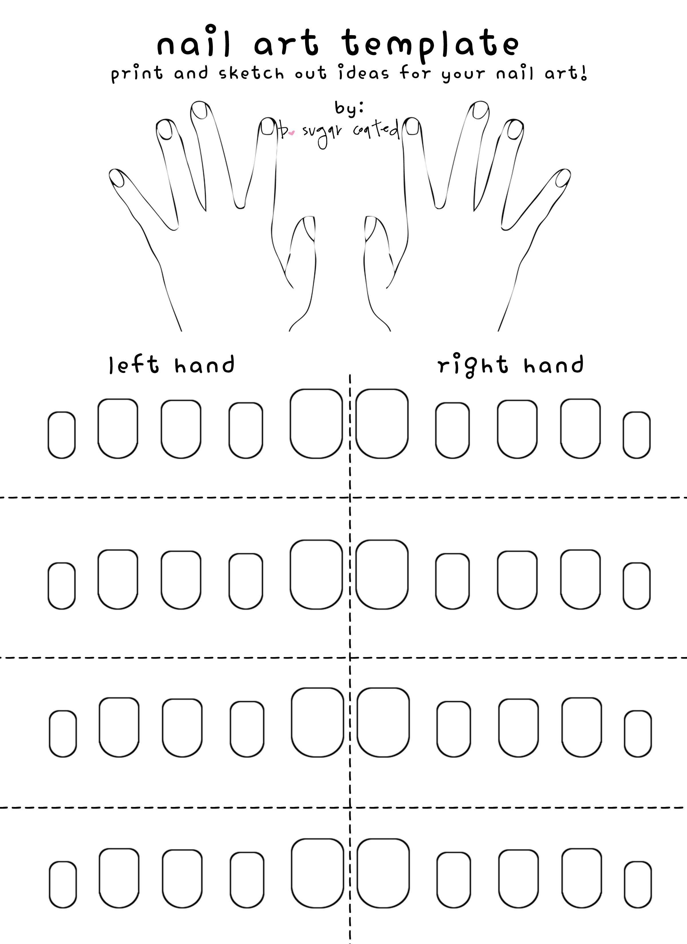 Free Printable Nail Art Template Nail Art Stencils Nail