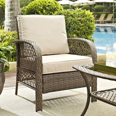 Surprising Beachcrest Home Tribeca Outdoor Arm Chair With Cushion Machost Co Dining Chair Design Ideas Machostcouk