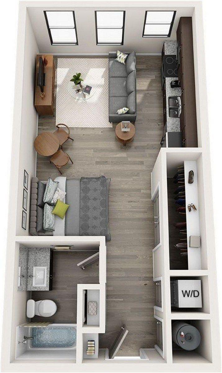 Tricks Set 1 Bedroom Apartment Interior Design With 20 Interior Design 15 Kp De Studio Apartment Floor Plans Studio Apartment Decorating Apartment Layout