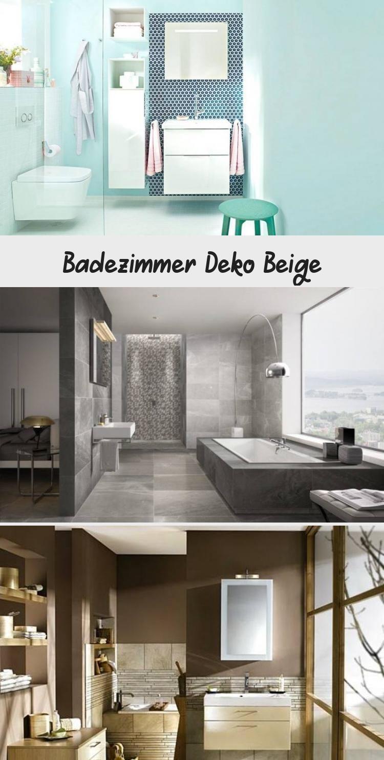 Schonheit Schone Dekoration Bad Grau Beige Badezimmer Deko Die