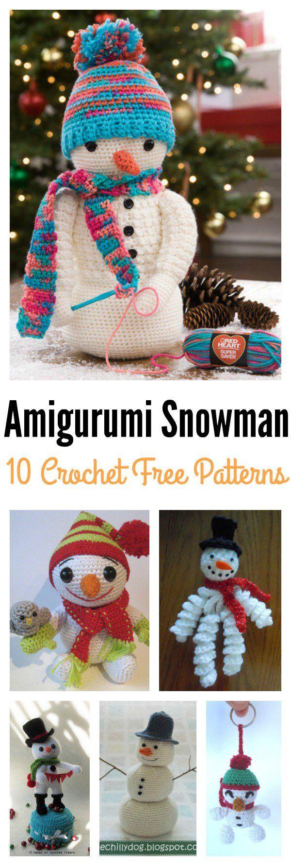 10 Crochet Amigurumi Snowman Free Patterns   Amigurumi, Free pattern ...