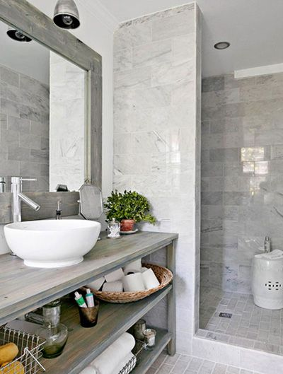 Refined Gray Bathroom Ideas Design And Remodel Pictures - Grey and white bathroom tile ideas