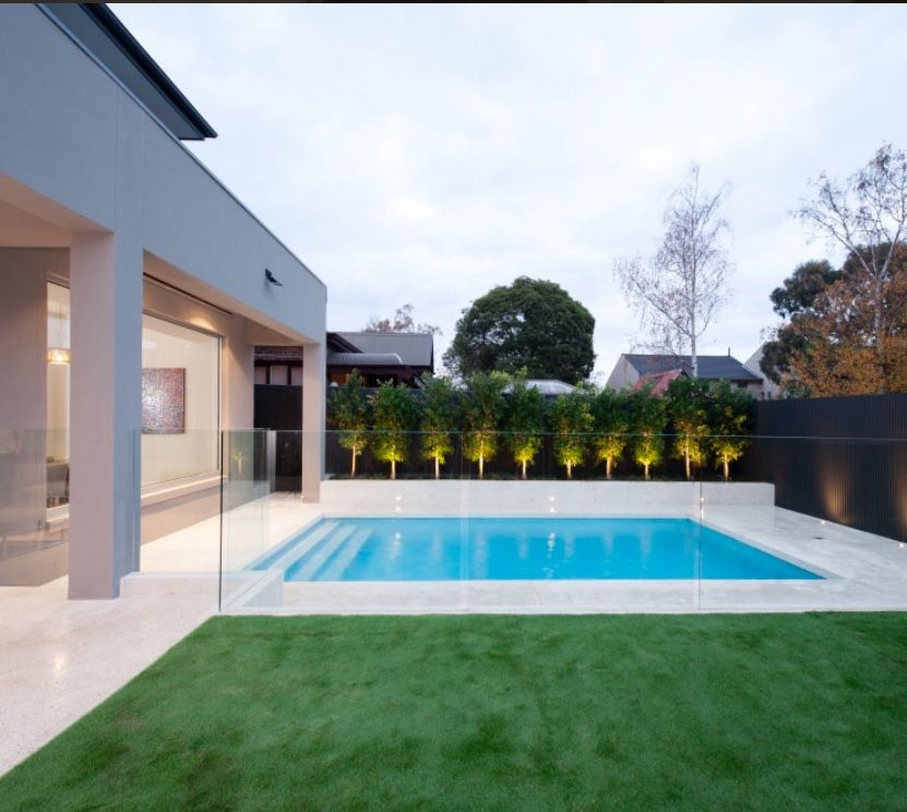 Pin By Diana Ooten On Pools Outdoor Decor Glass Pool Fencing Pool Fence Backyard Pool